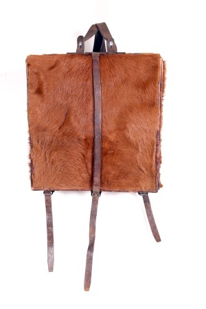 1950′s Swiss army cowhide backpack