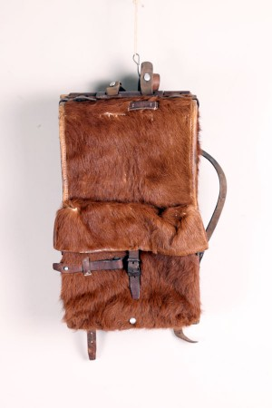 1944 Swiss army cowhide backpack