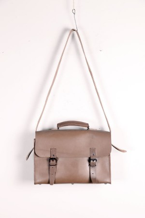 1970's french postman leather bag