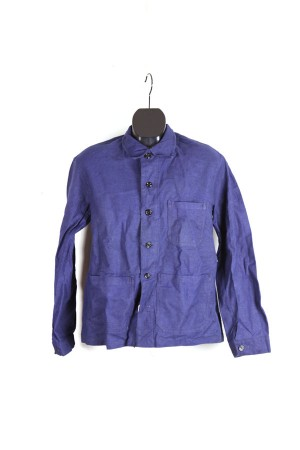 1950's french indigo linen work jacket