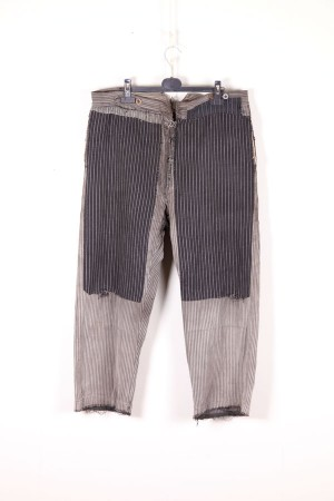 1930's french patched farmer pants