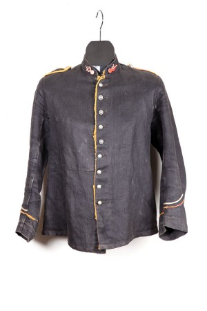 Early 1900's fireman herringbone suit