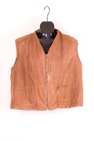 1950's french duck brown sheepskin vest