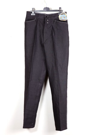 1950's black linen work pants