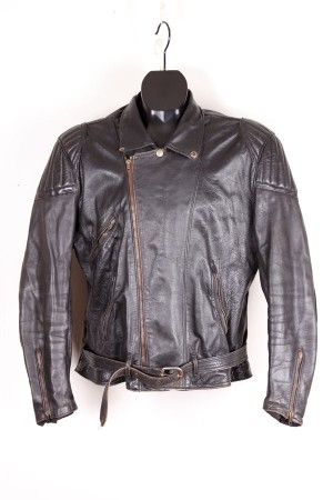 1960's french motorcyclist leather jacket