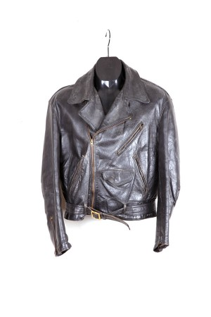 1950's french motorcycle leather jacket
