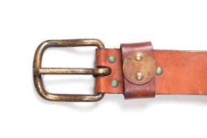1930's french leather belts