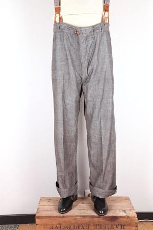 1920's french salt & pepper pants