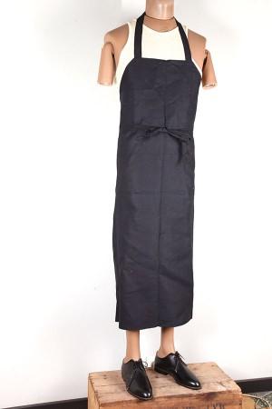 1930's antique french black linen apron