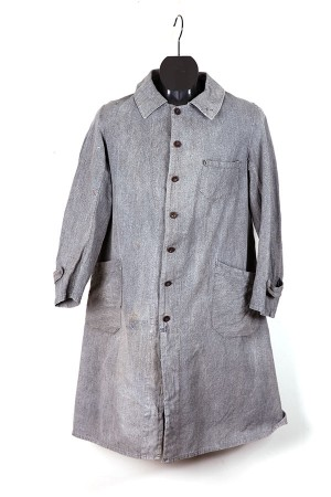 1930's salt & pepper atelier coat