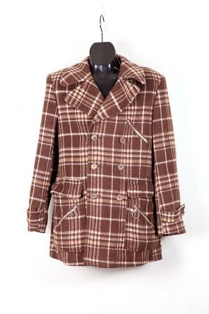 1960's german checkered wool coat
