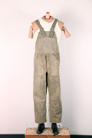 1930's waxed cotton overall
