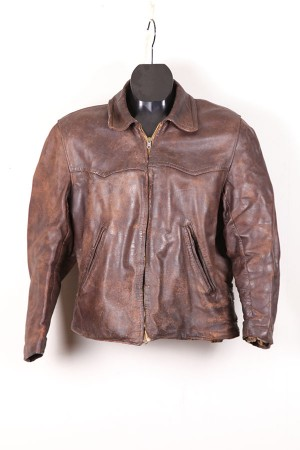 1940's french leather jacket