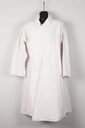 1930's french white linen doctor coat