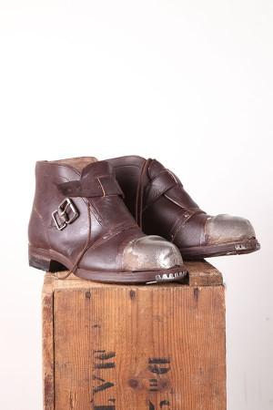 1930's belgian coal miner boots