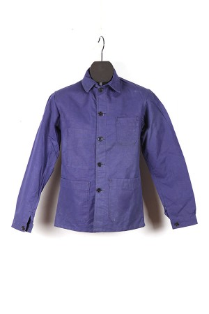 1950's Le Pigeon Voyageur indigo linen work jacket