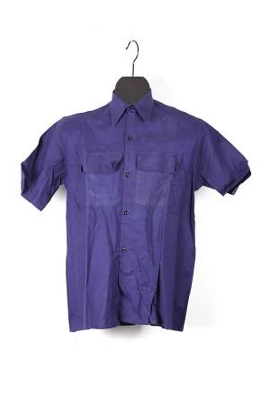 1940's french indigo linen work shirts