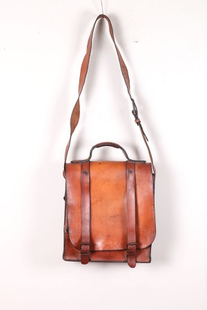 1950's french leather bag