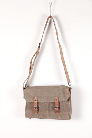1953 french army leather & canvas bag
