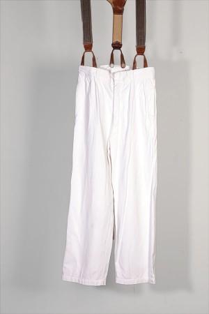 1930's white baker pants