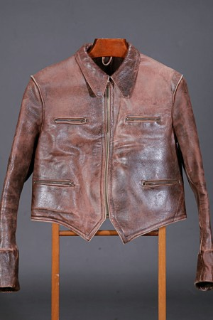 Late 40's motorcyclist leather jacket