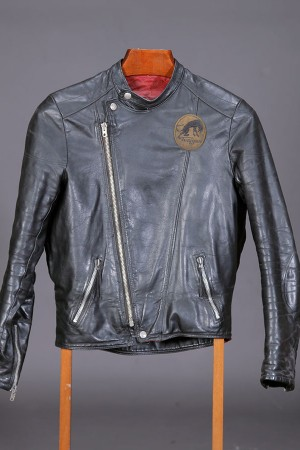 1970's french motorcyclist leather jacket