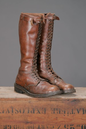 1930's french leather lace up boots