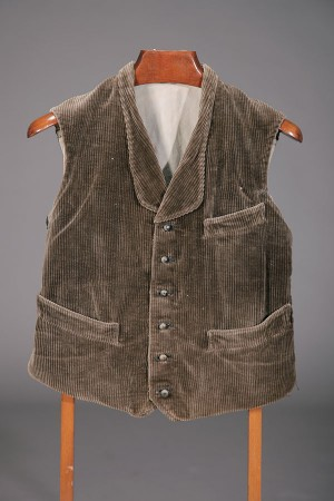 1930's french farmer cord vest