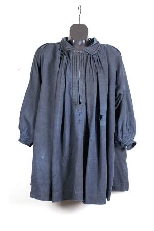 Late 1800's french indigo linen smock