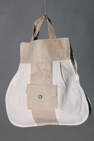 1930's french linen pouch