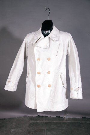 1930's french canvas peacoat