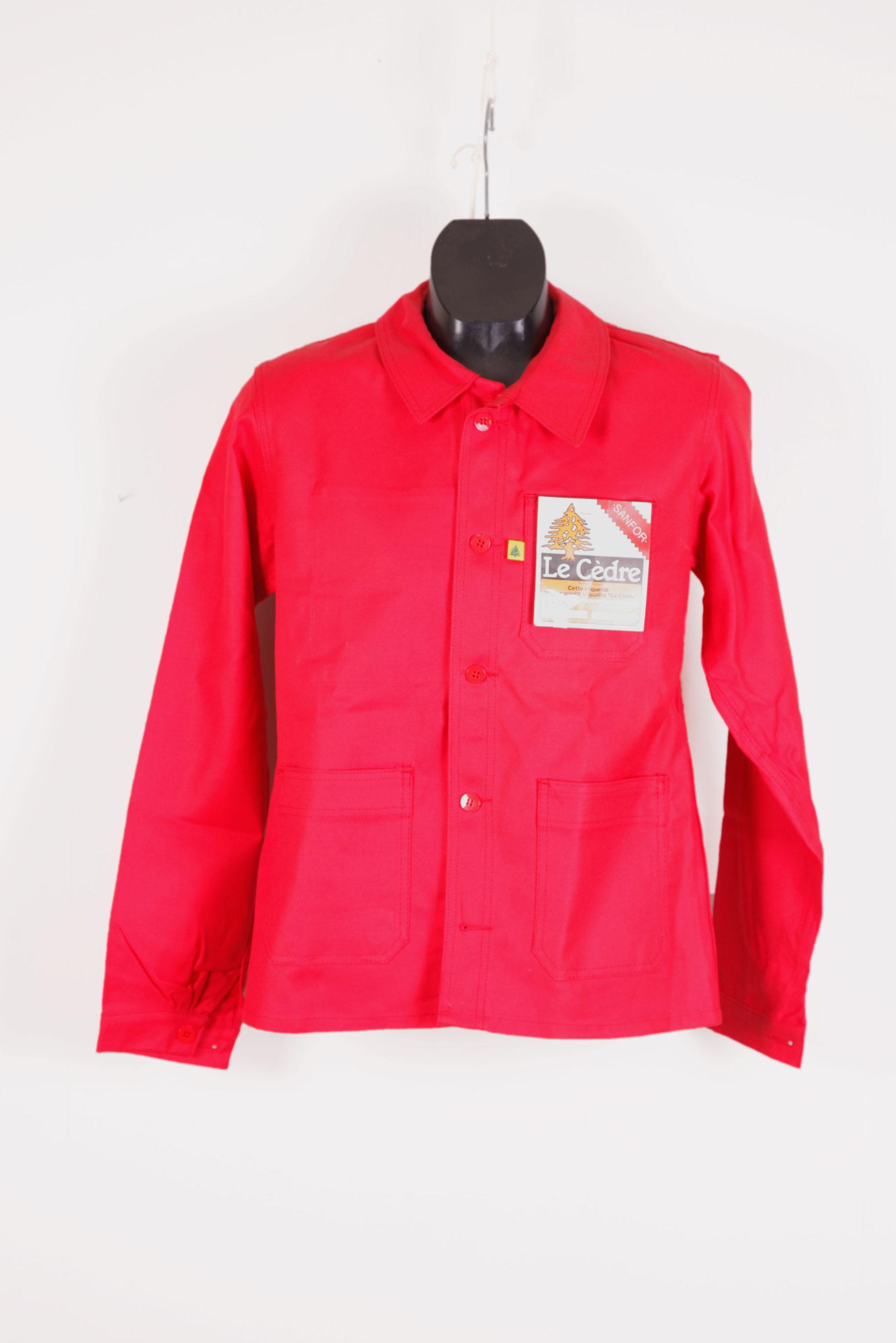 1960's french red moleskin work jacket