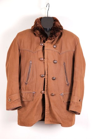 1950's french canvas mackinaw jacket