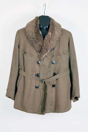 1940's french canvas mackinaw jacket
