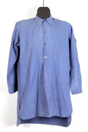 1940's french indigo linen shirt (2)