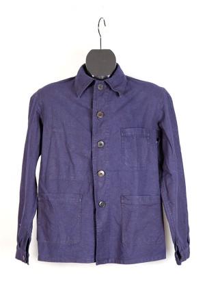 1950's french indigo linen work jacket