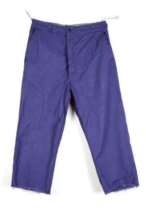 1950's french indigo linen work pants