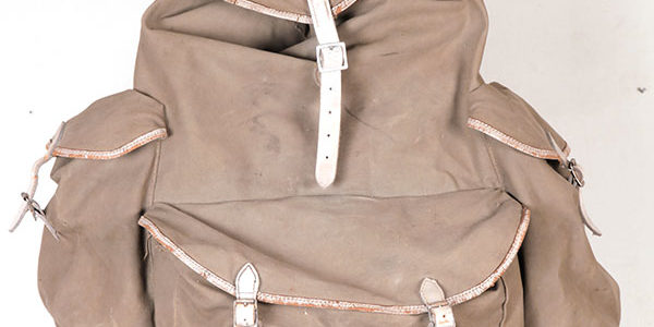 1950's grey British Bukta backpack