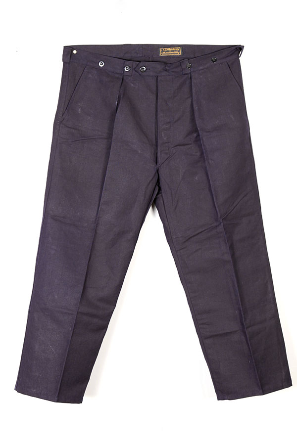 1930's Le Chaland french indigo linen pants