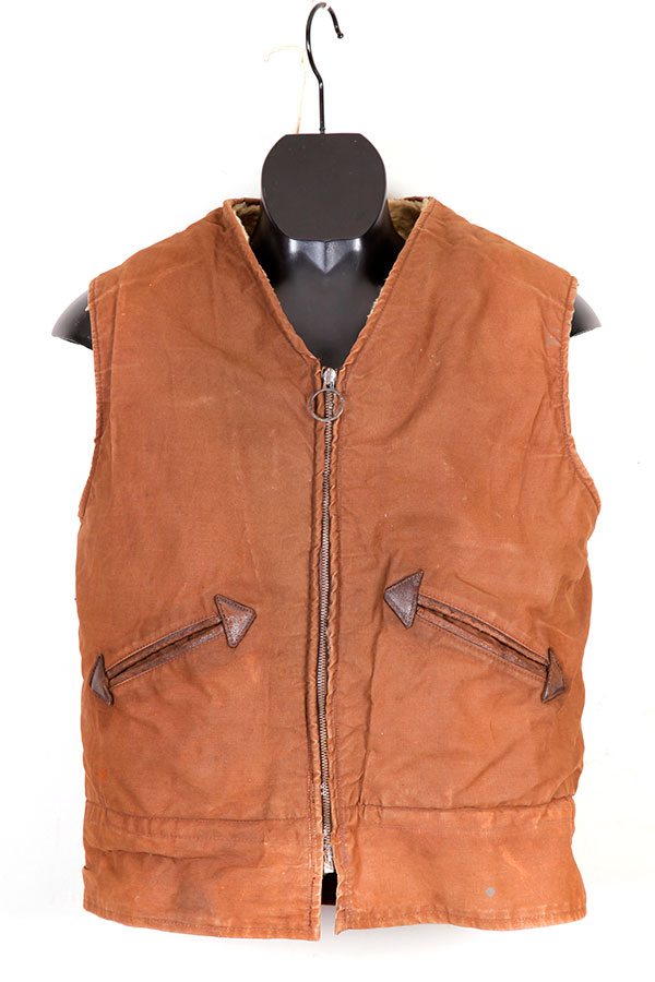 1950's french duck brown mouton vest