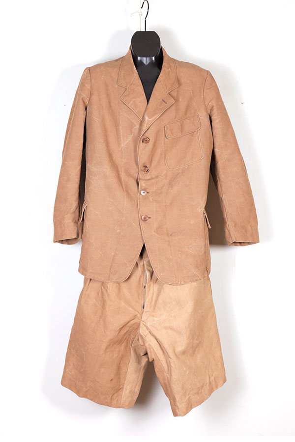 1930's french colonial cachou canvas suit