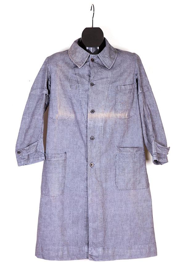 1930's grey linen atelier coat
