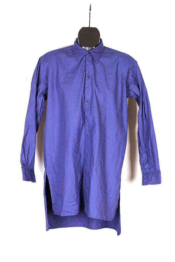 1940's indigo linen work shirt
