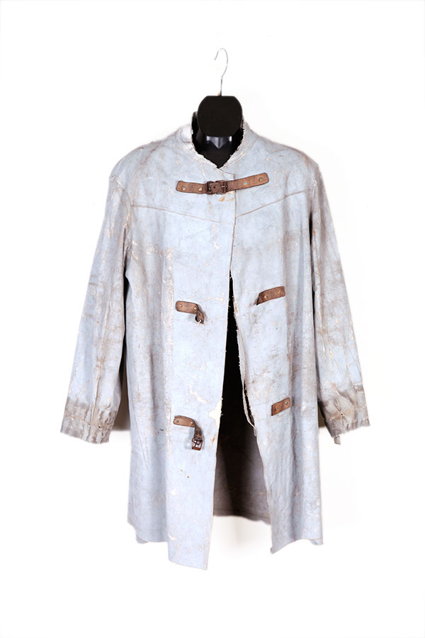 1930's french coated linen work coat