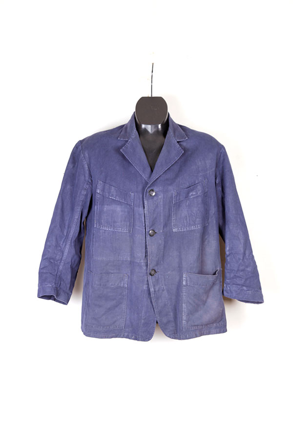 1940's french indigo linen chore jacket