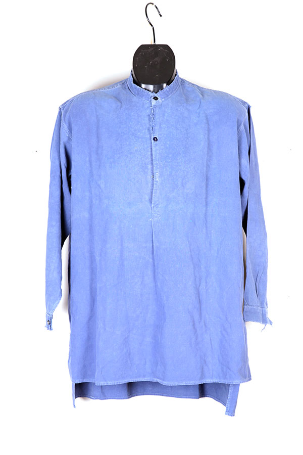 1930's french indigo linen shirt