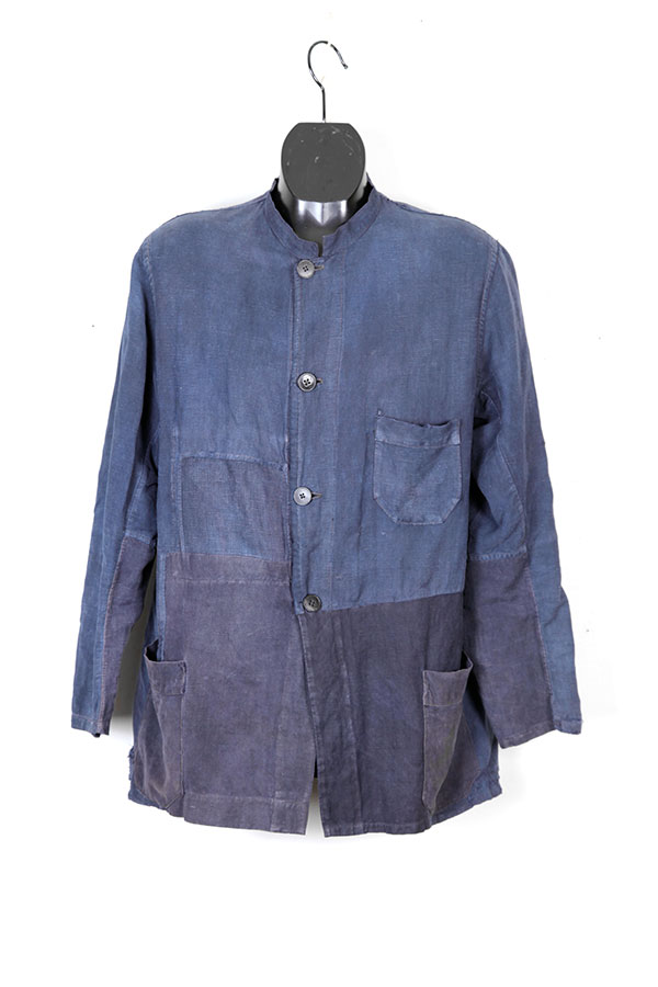 1920's french indigo linen chore jacket