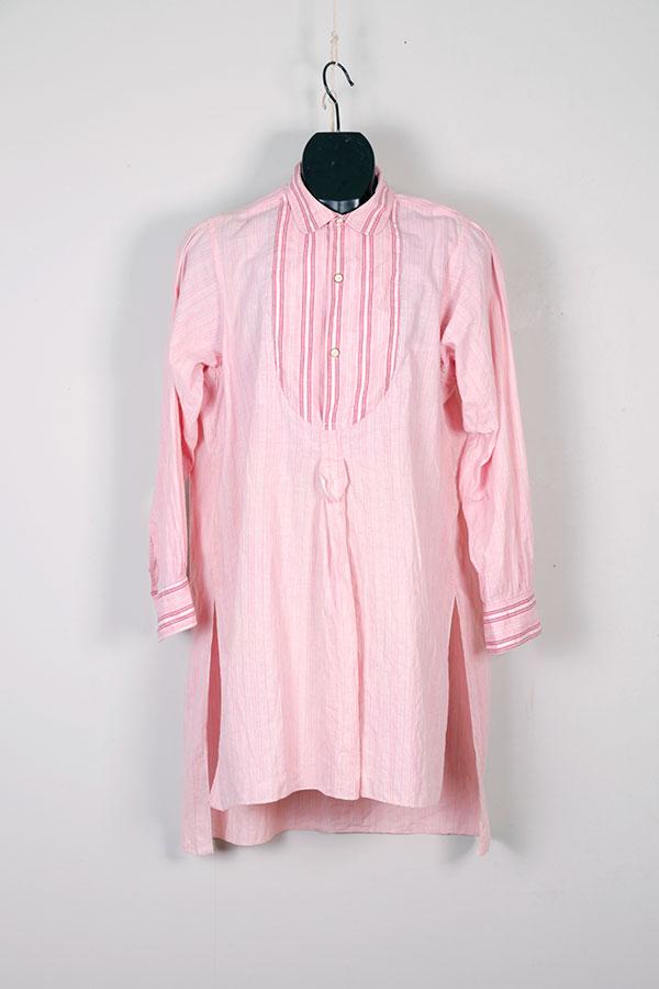 1920's pink striped men's shirt