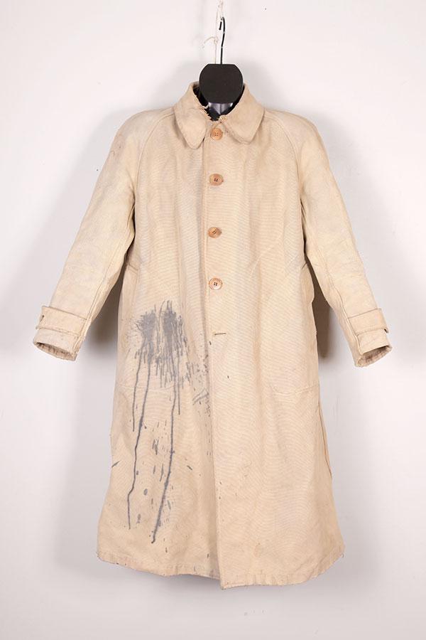 1930's french canvas rain coat