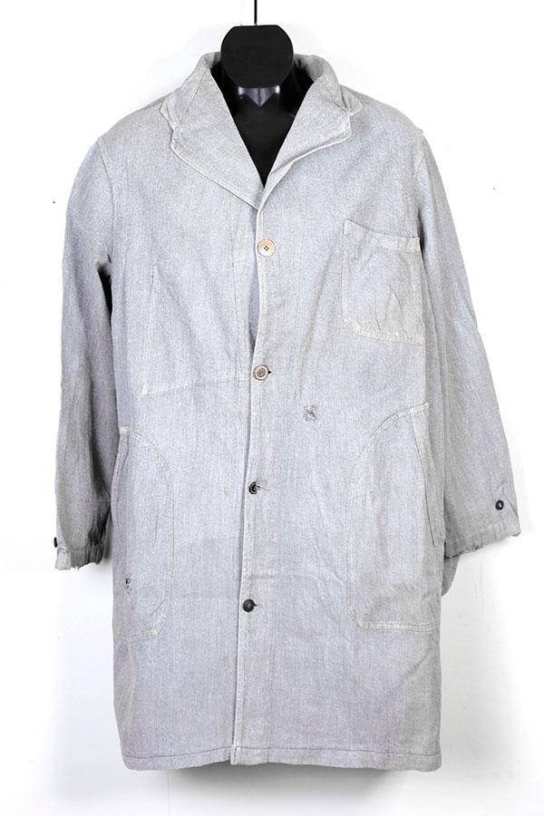 French salt & pepper atelier coat